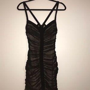 Mini black sheer dress